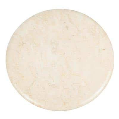 12 in. Natural Champagne Marble Round Cheese Board, Serving Board
