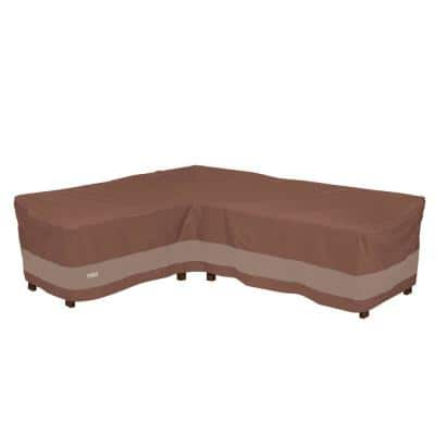 Ultimate 104 in. x 83 in. L x 34 in. W x 31 in. H L-Shape Sectional Lounge Set Cover-Left