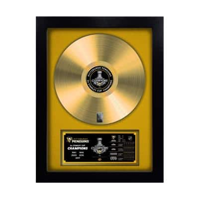 NHL Pittsburgh Penguins 2017 Stanley Cup Champion Gold Record