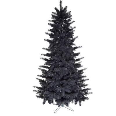 7 ft. Spooky Black Tinsel Tree