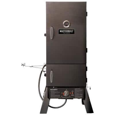 Dual Fuel Smoker in Black