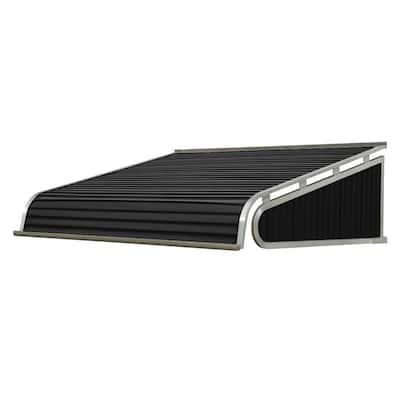7 ft. 1500 Series Door Canopy Aluminum Awning (12 in. H x 42 in. D) in Black