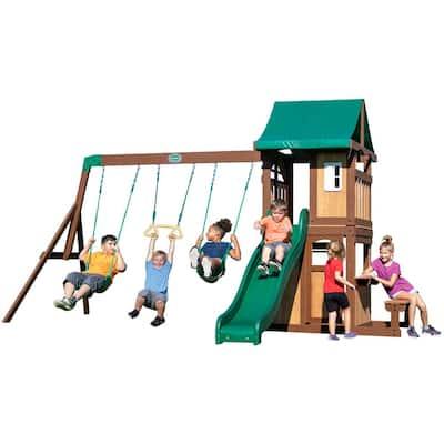 Lakewood All Cedar Wooden Swing Set