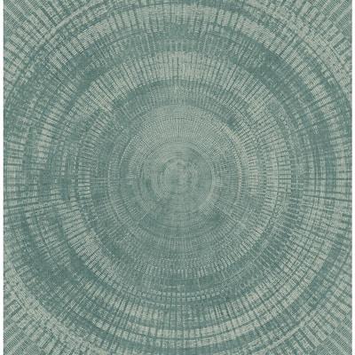 Lalit Teal Medallion Teal Wallpaper Sample