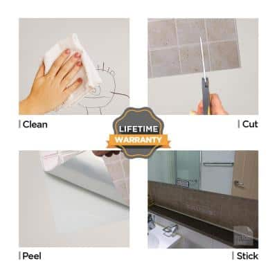 Marmo Travertine 10 in. W x 10 in. H Peel and Stick Self-Adhesive Decorative Mosaic Wall Tile Backsplash (10-Tiles)