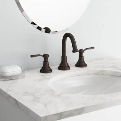 Worth 8 in. Widespread 2-Handle Bathroom Faucet in Oil-Rubbed Bronze