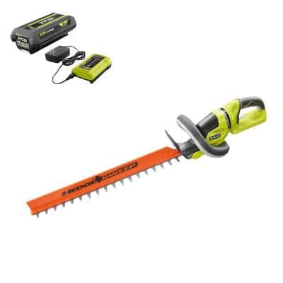 24 in. 40-Volt Lithium-Ion Cordless Hedge Trimmer with 2 Ah Battery and Charger Included