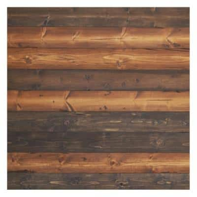 """Timeline Wood 11/32 in. x 5.5 in. x 47.5 in. The """"Mix"""" Brown Wood Panels (6-Pack)"""