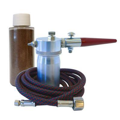 Sprays Abrasive to Etch Ssmooth or Clean Surfaces