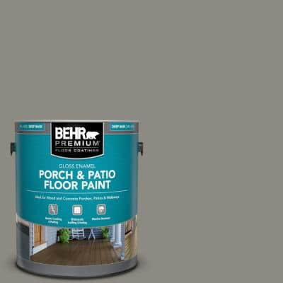 Behr Premium 1 Gal N450 4 Moonquake Gloss Enamel Interior Exterior Porch And Patio Floor Paint 673001 The Home Depot