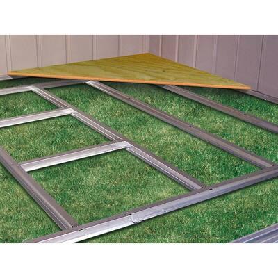 10 ft. W x 6 ft. D Galvanized Steel Floor Frame Kit