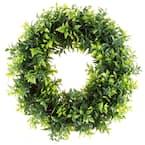 11.5 in. Artificial Opal Basil Leaf Wreath