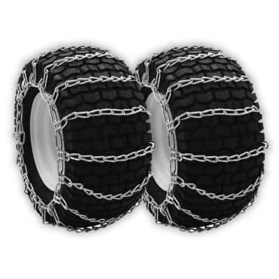 23 x 10.5 x 12 in. Tire Chains for Select Husqvarna Models Replaces AYP Dixon Poulan Husqvarna 954040111 (Set of 2)