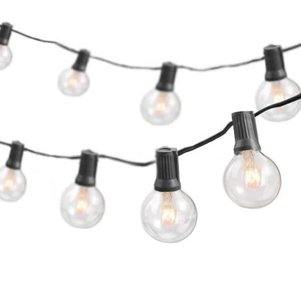 Newhouse Lighting 50 Ft Indoor Outdoor Weatherproof Party String Lights With 50 Sockets Light Bulbs Included Pstringinc50 The Home Depot