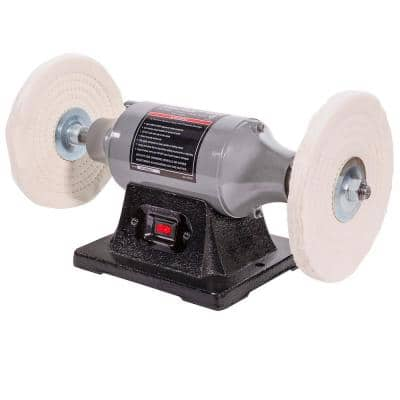 XtremepowerUS 8-inch 3/4 HP Electric Heavy-Duty Buffer Bench Top Polisher Grinder