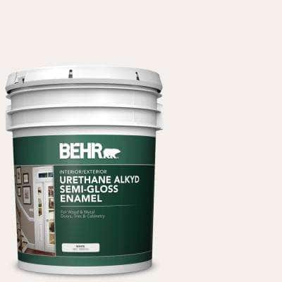 5 gal. #ECC-16-2 Bright Moon Urethane Alkyd Semi-Gloss Enamel Interior/Exterior Paint