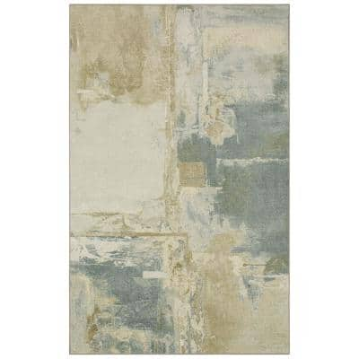 Fusion Neutral 4 ft. x 6 ft. Abstract Area Rug