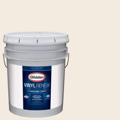 5 gal. #HDGWN41U Swiss Coffee Low-Lustre Exterior Paint with Primer