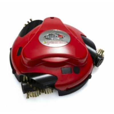 Automatic Grill Cleaning Robot with Installed Brass Replacement Brush, Red