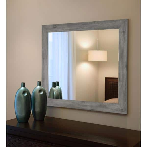 Large Rectangle Gray American Colonial, Framed Mirror 40 X 60