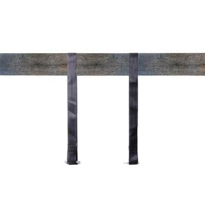Hanging Black Nylon Straps with Metal Carabiners (Set of 2)