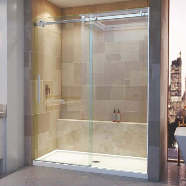 Dreamline Enigma Air 56 In To 60 X, Shower Stall Glass Doors Home Depot