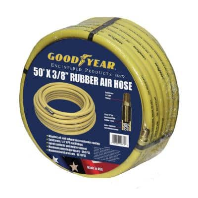 50 ft. x 3/8 in. Rubber Air Hose in Yellow