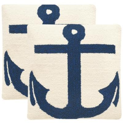Ahoy Soleil Square Outdoor Throw Pillow (2-Pack)