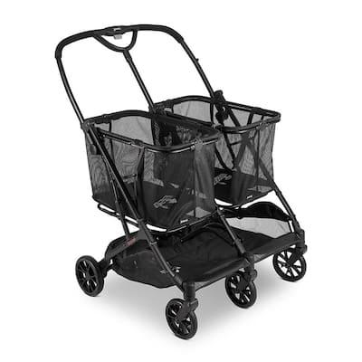 Boot X2 Folding Personal Double Shopping Cart
