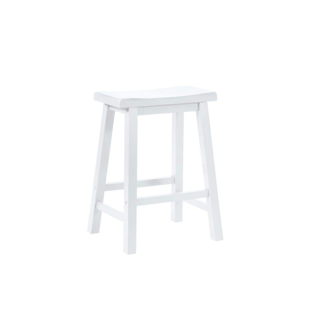 Powell Company 24 In Pure White Bar Stool 270 430 The Home Depot