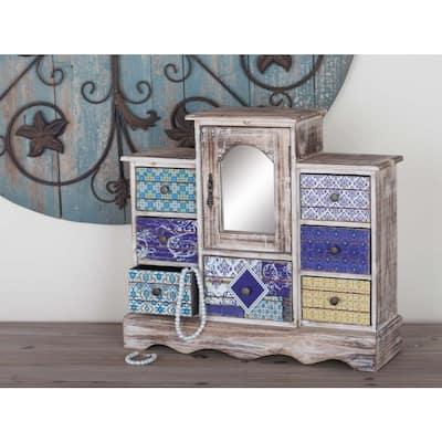 White Wood Vintage Jewelry Box