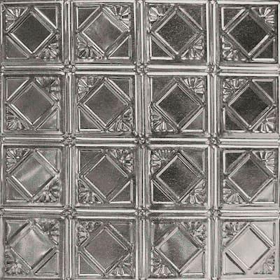 Pattern #19 24 in. x 24 in. Stainless Steel Tin Wall Tile Backsplash Kit (5 pack)