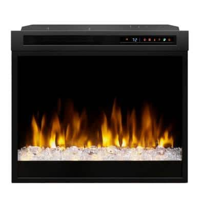 Multi-Fire XHD 28 in. Built-in Electric Fireplace Firebox with Acrylic Ember Bed in Black
