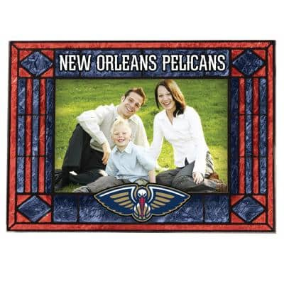 NBA -4 in. X 6 in. Gloss Multi Color Art Glass Picture Frame Pelicans