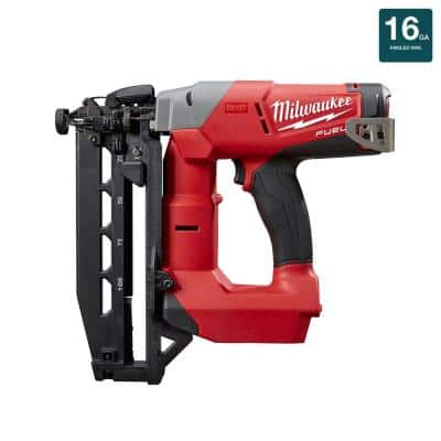 M18 FUEL 18-Volt Lithium-Ion Brushless Cordless 16-Gauge Straight Finish Nailer (Tool Only)