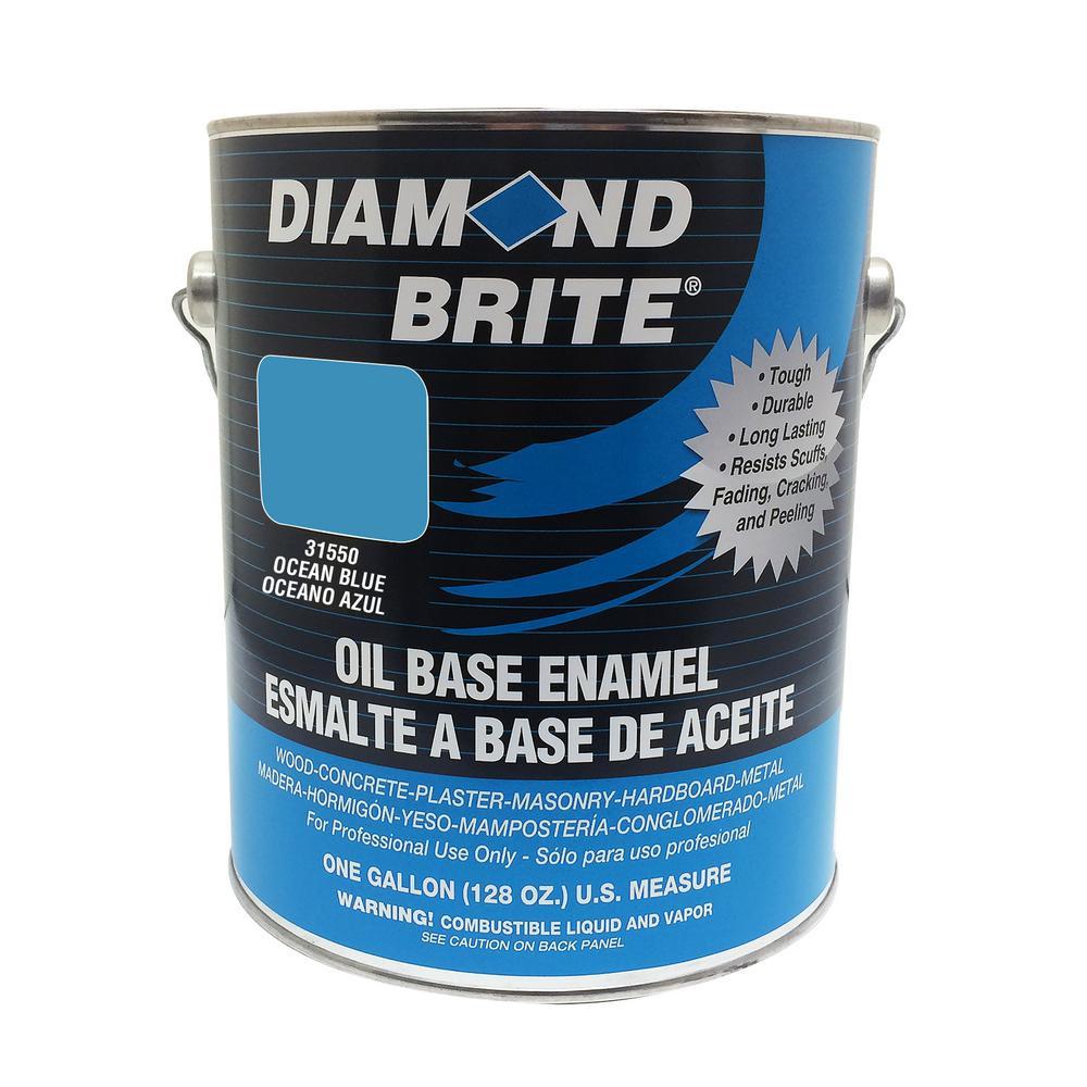 1 Gal. Ocean Blue Oil Base Enamel Interior/Exterior Paint