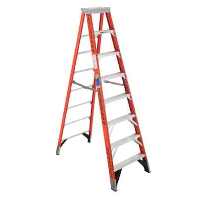10 ft. Fiberglass Step Ladder with 375 lb. Load Capacity Type IAA Duty Rating