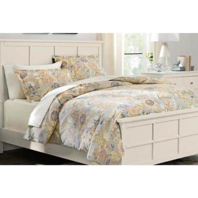 Tadhurst 3-Piece Floral Reversible King Duvet Cover Set
