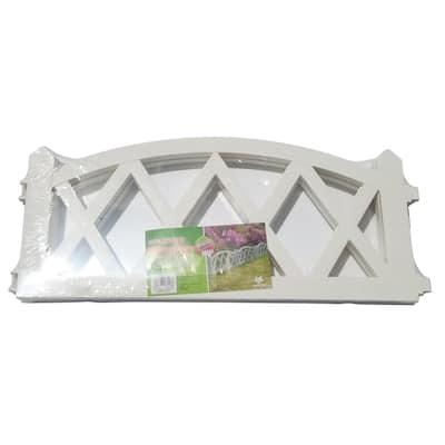 4-Panel White Plastics Fence