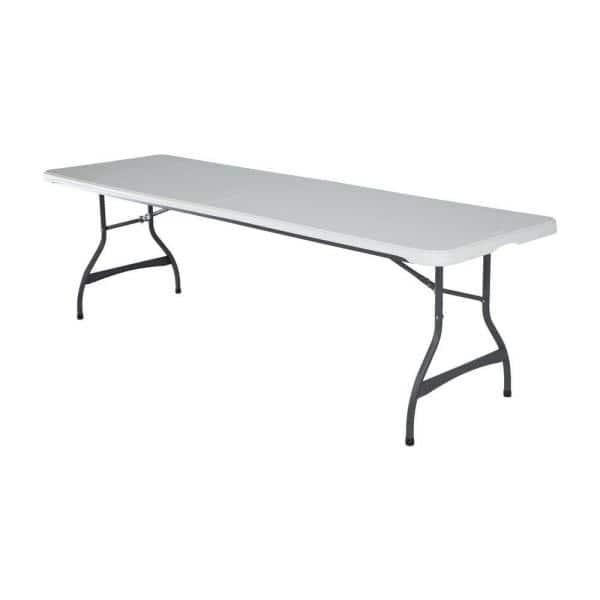 Lifetime 36 Piece White Outdoor Safe Stackable Folding Table Set 80410 The Home Depot