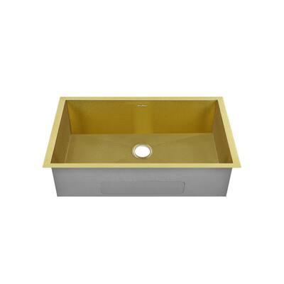 Tourner Stainless Steel 27 in. Single Bowl Undermount Kitchen Sink