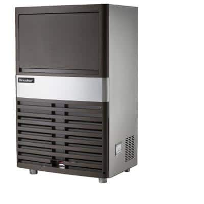 80 lb. Freestanding or Built-In Ice Maker in Stainless Steel