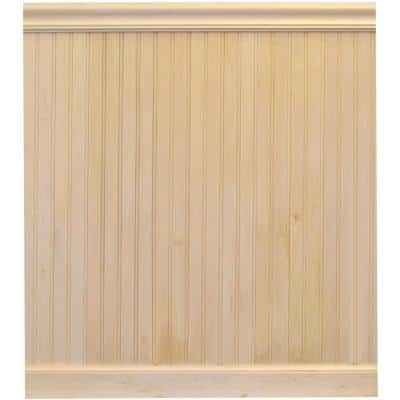 8 lin. ft. Basswood Tongue and Groove Wainscot Paneling