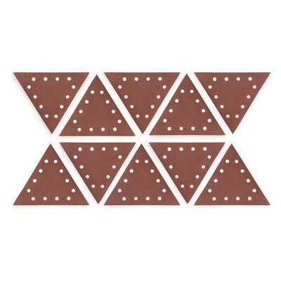 Drywall Sander 11-1/4 in. 240-Grit Hook and Loop Triangle Sandpaper (10-Pack)
