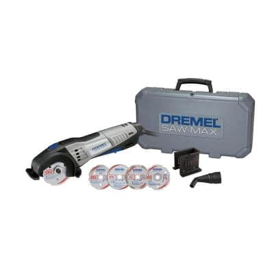Saw-Max 6 Amp Variable Speed Corded Tool Kit for Wood, Plastic, Tile and Metal with 4 Blades, 2 Attachments and Case