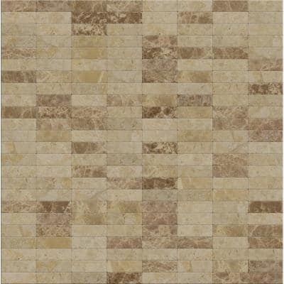 Take Home Sample - Lynx Mixed Browns 4 in. x 4 in. Stone Self-Adhesive Wall Mosaic Tile (0.11 sq.ft/Sample)