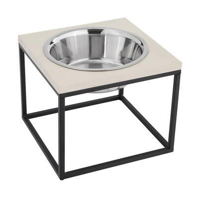 Dan Single Wood and Stainless Steel Pet Bowl