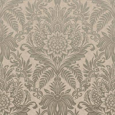 Signature Beige Damask Peelable Roll (Covers 56.4 sq. ft.)