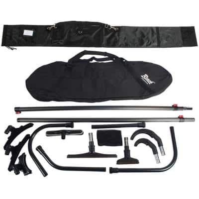 25 ft. High Reach Vacuum Attachment Kit with 2-Carbon Fiber Poles and Carry Bag