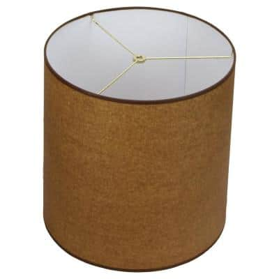Fenchel Shades 14 in. Top Diameter x 15 in. Bottom Diameter x 15 in. Slant, Empire Lamp Shade - Paper Oiled Kraft
